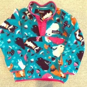 Girls Size 4 Patagonia 1/4 Button Down Fleece